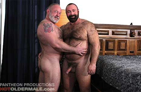 Hot Brad Kalvo is in full-on bear mode as he gets together with hot daddy bear Johnny Pierce in the bedroom. Johnny is in heaven as he sucks Brad's fat cock and plays with daddy's nipples and belly.