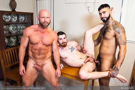 Rikk York is lucky to have such an open-minded step-dad who's looking forward to meeting his boyfriend at dinner. But, Rikk is unaware that daddy has already discreetly met his bf, Nick Milani.