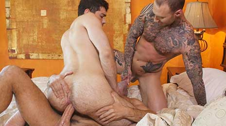Manuel Skye and Dylan James fuck Ben Batemen on Lucas Entertainment! Manuel Skye is another man among the Lucas Men who is known for his top-daddy prowess.