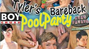 Tyler Thayer will never forget this pool party! 5 twinks plowed his hole during a pool party that left him wrecked gapping and full of cum. Each of the boys had their turns and plowed his ass while Tyler took each like a champ!