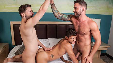 In Part 1, Ashton Summers got the cum fucked out of him. But the brothers have just begun. To help spring Ashton back to life, they all decide to blow each other.