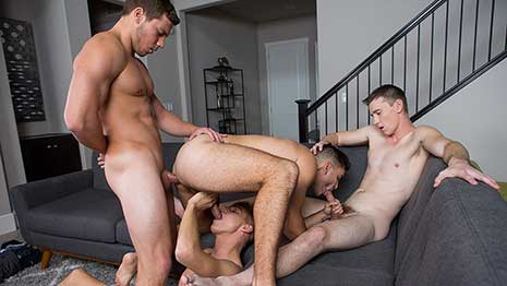 As I'm sure you know, each of these guys is great at any and everything they do. Every single one of these four studs can sling a dick with the best of 'em, and can also take a deep, hard pounding like a champ.