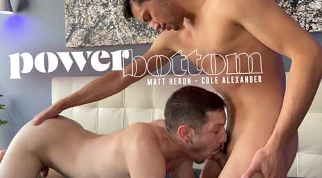 You've seen Cole Alexander at work before - he is a bottomless bottom. There's nothing you can throw at him that will slow him down. Today he is HUNGRY and Matt Heron brings his fat cock to feed the beast.