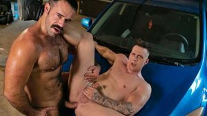 This heat has everyone sweaty and extra horny! When Teddy Torres notices an anonymous invitation by Ace Quinn to follow him into his garage, he's more than willing.