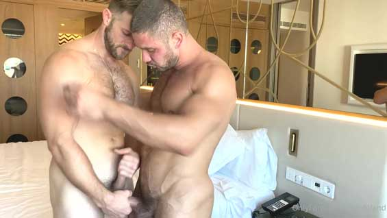 Paul Wagner with another muscle stud, but ends up being the bottom bitch! I like to go somewhere warm when winter arrives. I hate cold weather.